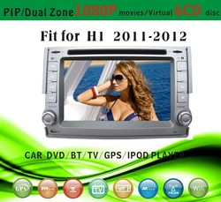 car dvd gps 2 din fit for Hyundai H1 2011 - 2012 with radio bluetooth gps tv pip dual zone