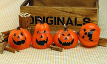 Cute home decoration halloween pumpkin shape art candle