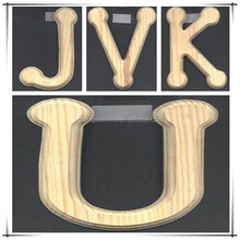 Hot selling wholesale small wooden decorative letters for crafts