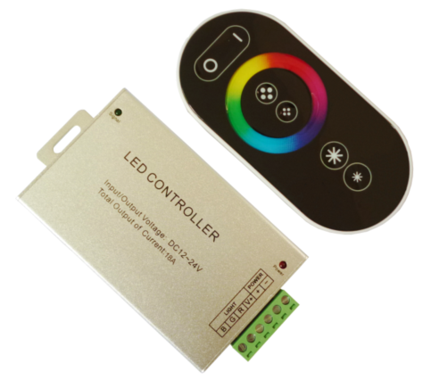 DC12V/216W 24V/432W RF Full Touch Golden/Silver Aliminum Shell LED RGB Controller