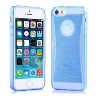 0.5mm thickness soft tpu bling bling case for iphone 5s,soft tpu case for iphone 5