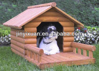 Hot sales! Waterproof outdoor painted wood dog house with Porch / Dog Kennel