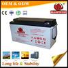 Profitable Factory price 12V 150Ah Vrla gel home power solar battery