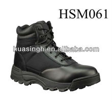 abrasion resistant classical 6 inch name brand military combat ankle boots in black