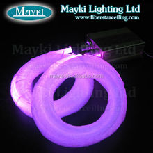 Color changing fiber optic led light with 32W illuminator and 520pcs 0.75mm fiber cables