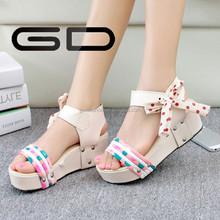 GD colorful platform no heel sandals for girls