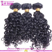 Factory wholesale price no shedding virgin jerry curl weave extensions human hair