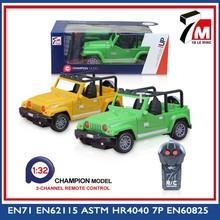 Coche de carreras 1:22 escala de 2 canales rc modelo de jeep