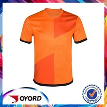 soccer products dry fit orange color active soccer jersey