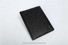 Promotional Gift Men Genuine Leather Travel Organizer Leather Passport Holder Wallet With Cheap Price