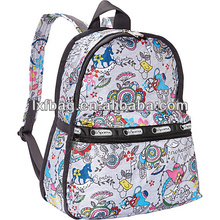 2014 hot sale wholesale colorful printing famous brand hannah montana primary student new style school bags backpack for girls