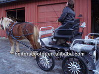 Beautiful and sulky sightseeing horse drwan carriage/4 wheels horse and carriages for tourism with covers