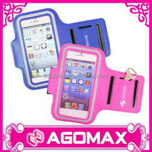 Private label welcome promotional gift PU phone armband for iphone