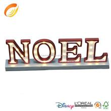 2016 popular item lighting letter NOEL for festival decoration