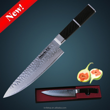 Huiwill New knife japanese damascus chef knife 8 inch kitchen knife with G10 handle