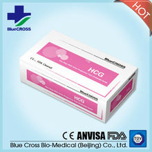 CE and ISO HCG test for Pregnancy with strip cassette midstream device