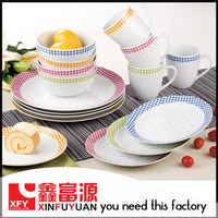 China wholesale Porcelain Country Style Dinnerware Set