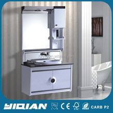 Balcão de vidro top cor branca desconto quente armário de banheiro