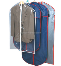 Clear clothing storage bags dustproof cover for suits/coats/t shirts