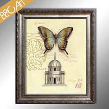 Wall picture for restaurant butterfly and castle print photo modern still life oil painting