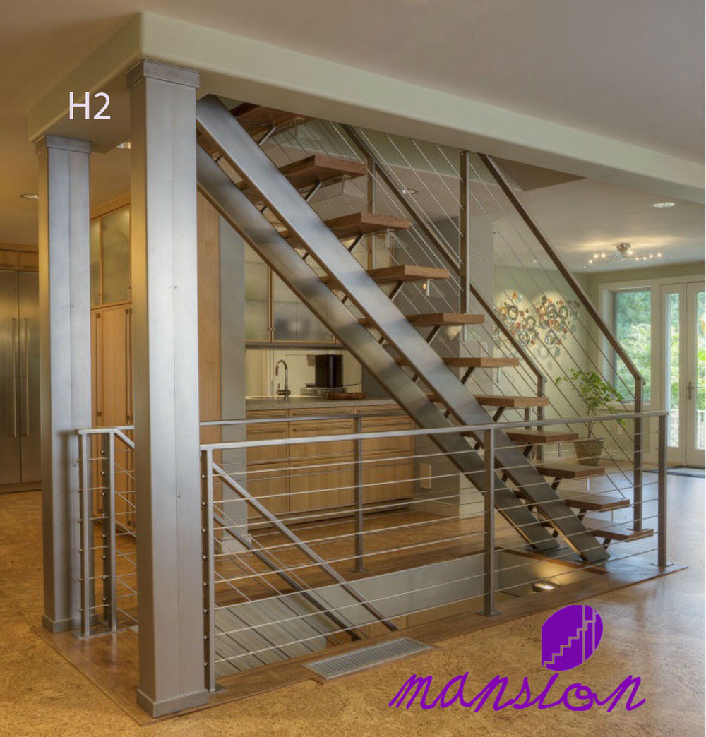 Double Stringer Stainless Steel Prefabricated Stairs View