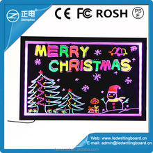 50x70cm brilliant and eye-catching with neon effect led display board price