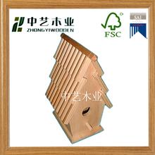 customized bamboo diy mini wood bird cage made in china