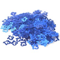 blue 13th PVC birthday party confetti