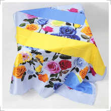women fashion twill square scarf silk