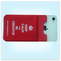 custom cell phone cover 3m lycra sticker smart wallet card holder for iPhone