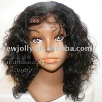 Sexy indian hair lace front wig, with baby hair all around