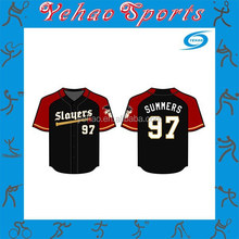 interesting design sublimated baseball jersey with number