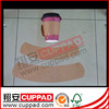 Plastic coffee cup with sleeves with custom logo with low price