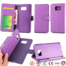 wholesale wallet style couple two mobile phones leather free sample phone case for samsung S6