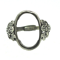 Beadsnice 925 sterling silver adjustable ring base for oval gemstone ring base blank findings ID 31754