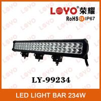Guangzhou Factory manufacturer 234w hi-way car led light 12V IP67 flood led light bar