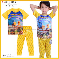 Wholesale boys Minions Pajamas Sets Kids Cotton Sleepwear X-1114