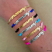 Silver Gold Plated Mommy Mom Mum Mother's Day Gift Adjustable Friendship Bracelet For 2016