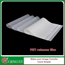 offset and screen printing PET release film for heat transfer sticker