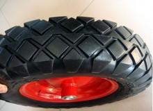 rubber wheel 4.00-8 flatfree foam wheel