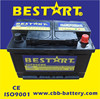 Golden quality 12v high class sealed automotive car battery 66ah 56618-MF