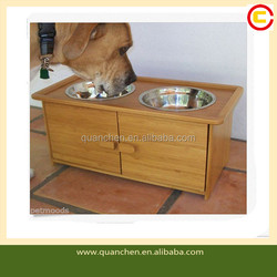 Perfect Bamboo Pet Bowls for Dogs With a Cabinet