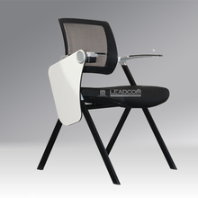 Leadcom foldable training room chair with writing tablet LS-5068