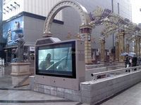 weatherproof free standing outdoor video wall