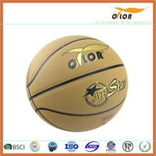 8 pannels PVC leather laminated exercise basketballs
