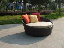 Wicker rattan sun lounge luxury outdoor furniture/indoor round bed