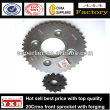 China manufacturer motorcycle spare parts chain and sprocket motorcycle