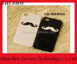 Handmade 3D Moustache Hard/Soft Case For iPhone 5 5s 6 plus 4.7 5.5 Plastic Phone Back Cover Shell Capa Funda Top Fashion Design