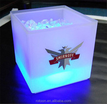 PP square ice cooler bucket double layer beer cooler holder