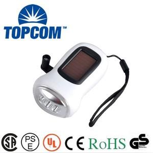 Tp-ph005 mejor precio 3 LED manivela Solar Rechargeables linterna precio